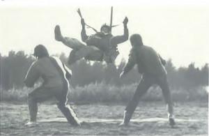 Kerholegenda Wexu Korhonen Porin SM-kisojen tarkkuushypyssä vuonna 1971